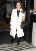 Michelle Dockery seen leaving BBC Radio Two studios in London