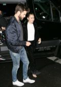 Miley Cyrus and Liam Hemsworth are spotted as they arrive to SNL after-party in New York