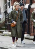 Mollie King and AJ Pritchard are seen out for lunch after rehearsals in London