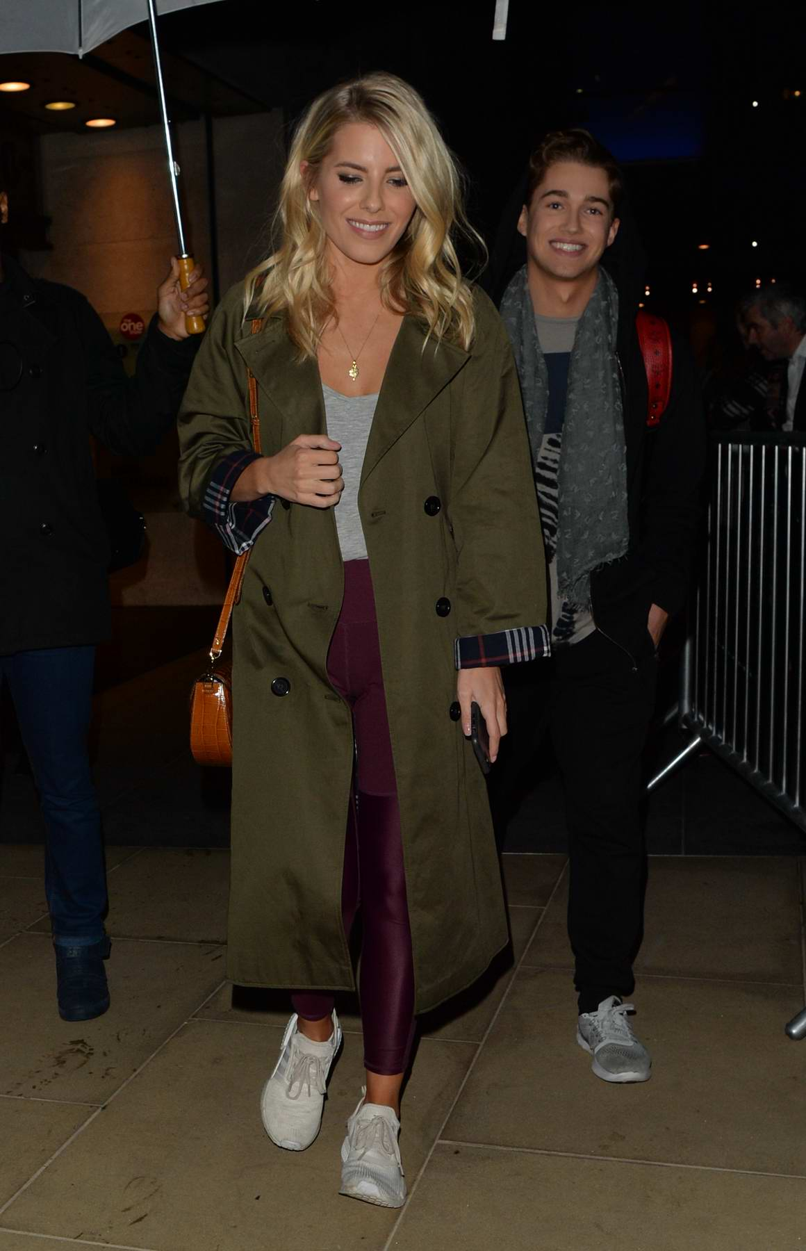 Mollie King makes an appearance on 'The One Show' in London