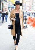 Nicky Hilton shows off her baby bump while out and about in New York City