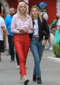 Nicola Peltz was spotted doing some shopping at The Grove with a friend in Hollywood, Los Angeles