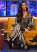 Nicole Scherzinger makes an appearance on 'The Jonathan Ross Show' in London