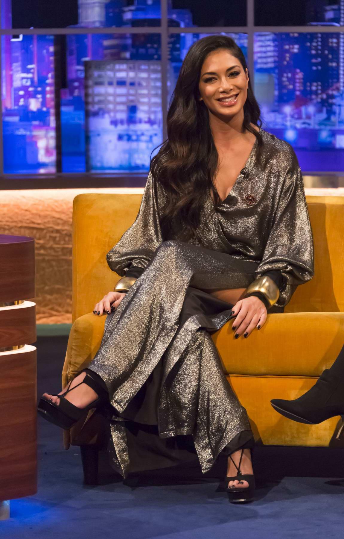 Nicole Scherzinger makes an appearance on 'The Jonathan Ross Show' in London