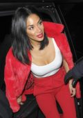 Nicole Scherzinger seen after X Factor live show at dinner with Ed Sheeran in London