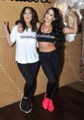 Nikki Bella and Brie Bella host the launch of their 'Birdiebee' brand of Clothing