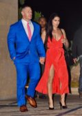 Nikki Bella and John Cena enjoy a late dinner at Nobu in Malibu, California