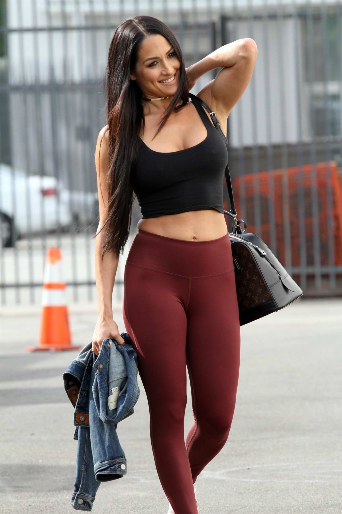 Nikki Bella heads for dance rehersals for the last week of DWTS in Los Angeles