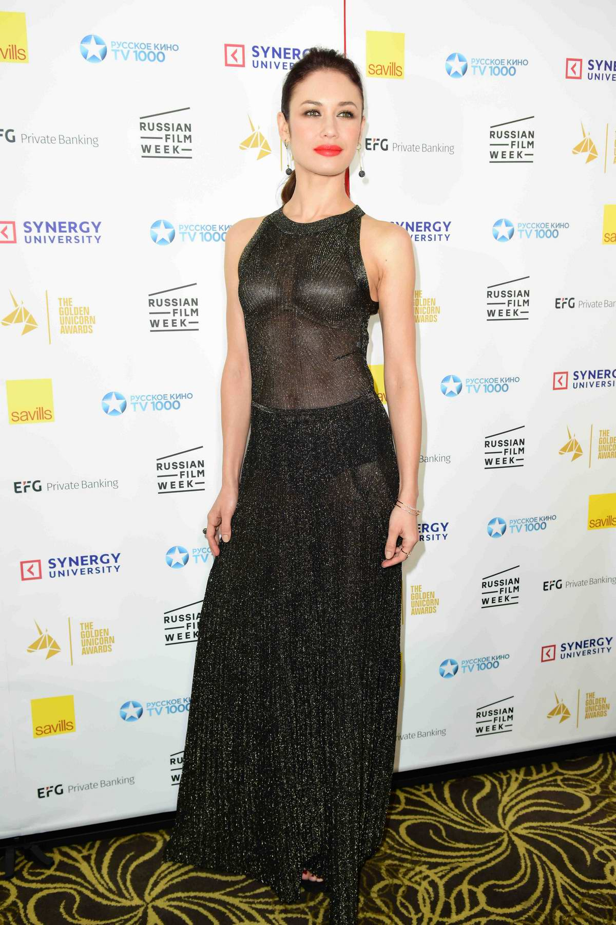 Olga Kurylenko at the Golden Unicorn Awards in London