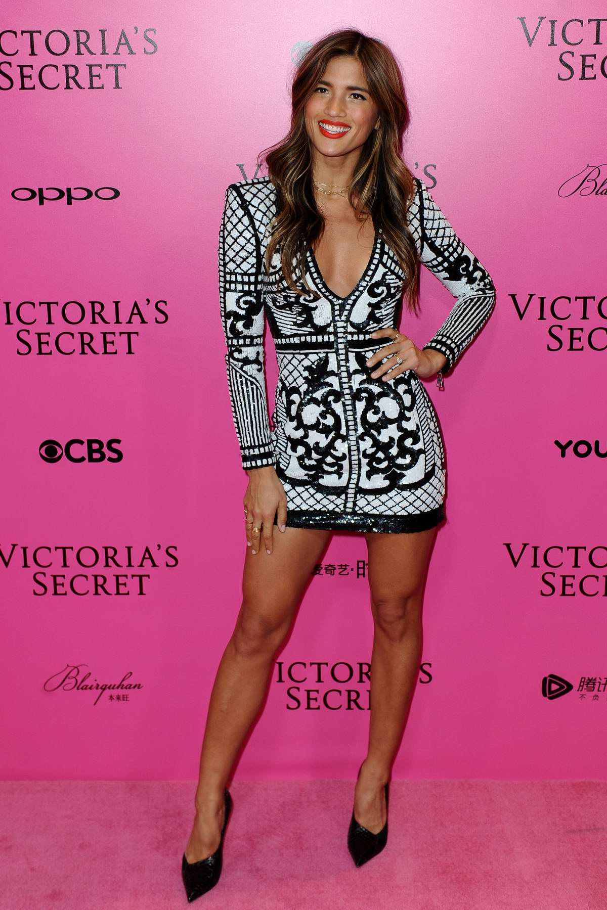 Rocky Barnes at the Victoria's Secret fashion show, pink carpet and after party at Expo Center in Shanghai, China