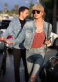 Romee Strijd enjoy lunch with friends at Zinque Café in West Hollywood, Los Angeles