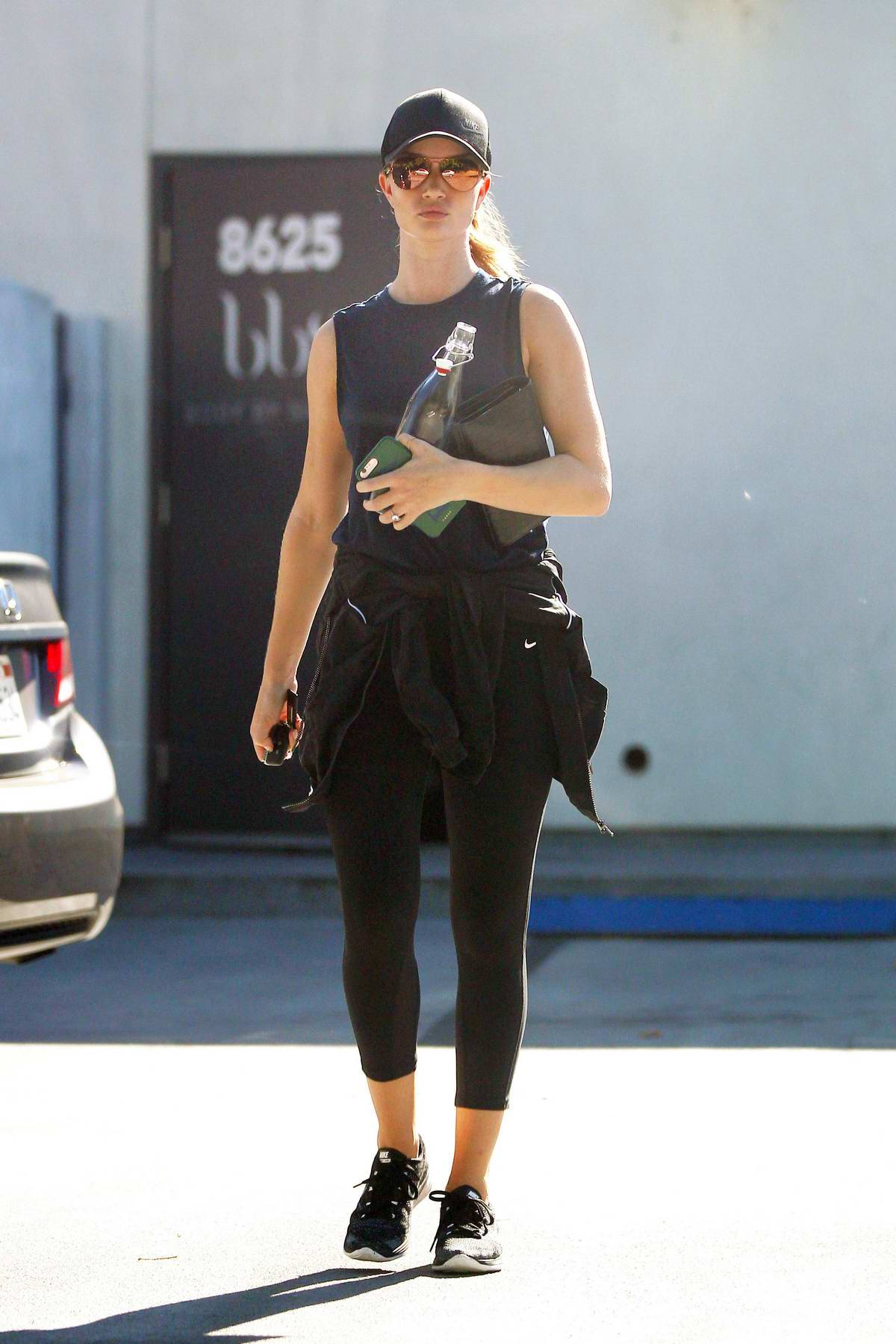 Rosie Huntington-Whiteley heading to the gym in West Hollywood, Los Angeles