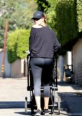 Rosie Huntington-Whitely walking her baby in Los Angeles
