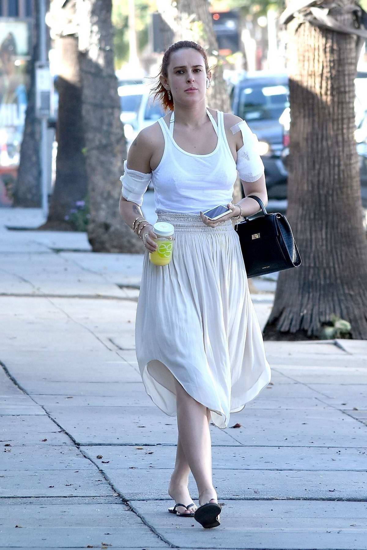 Rumer Willis spotted after getting a tattoo removal treatment in Studio City, Los Angeles