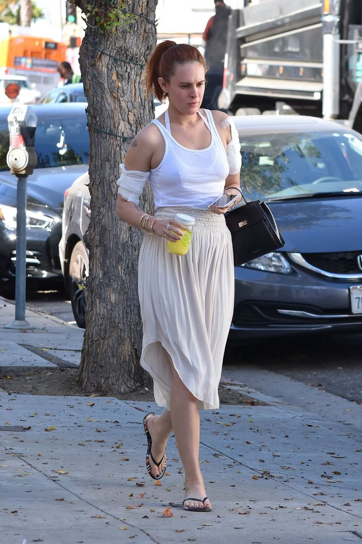 Rumer willis spotted after getting a tattoo removal for Getting a tattoo removed
