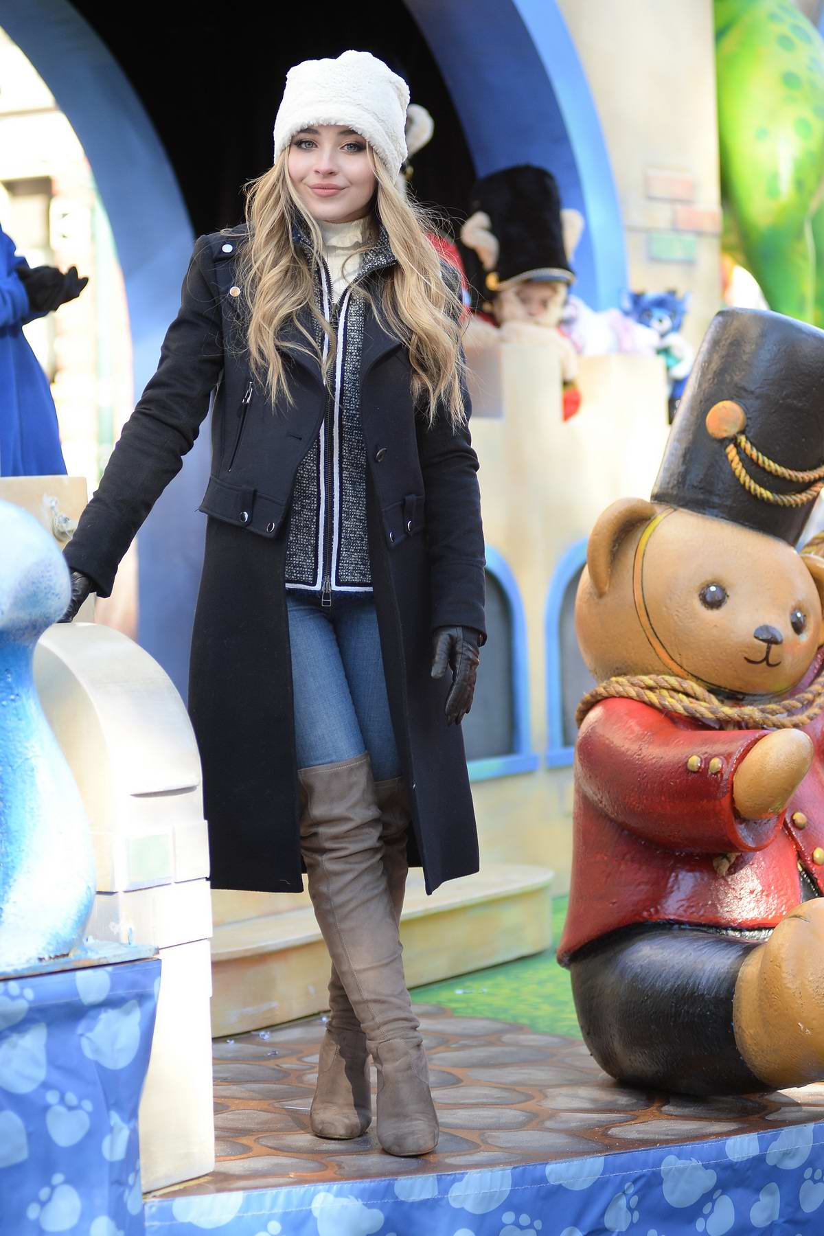 Sabrina Carpenter at Thanksgiving Day parade at Central Park west in New York