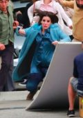Sandra Bullock filiming post apocalyptic scenes in Los Angeles