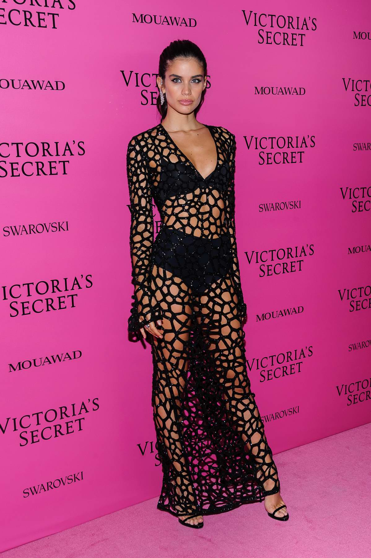 Sara Sampaio at the Victoria's Secret fashion show, pink carpet and after party at Expo Center in Shanghai, China
