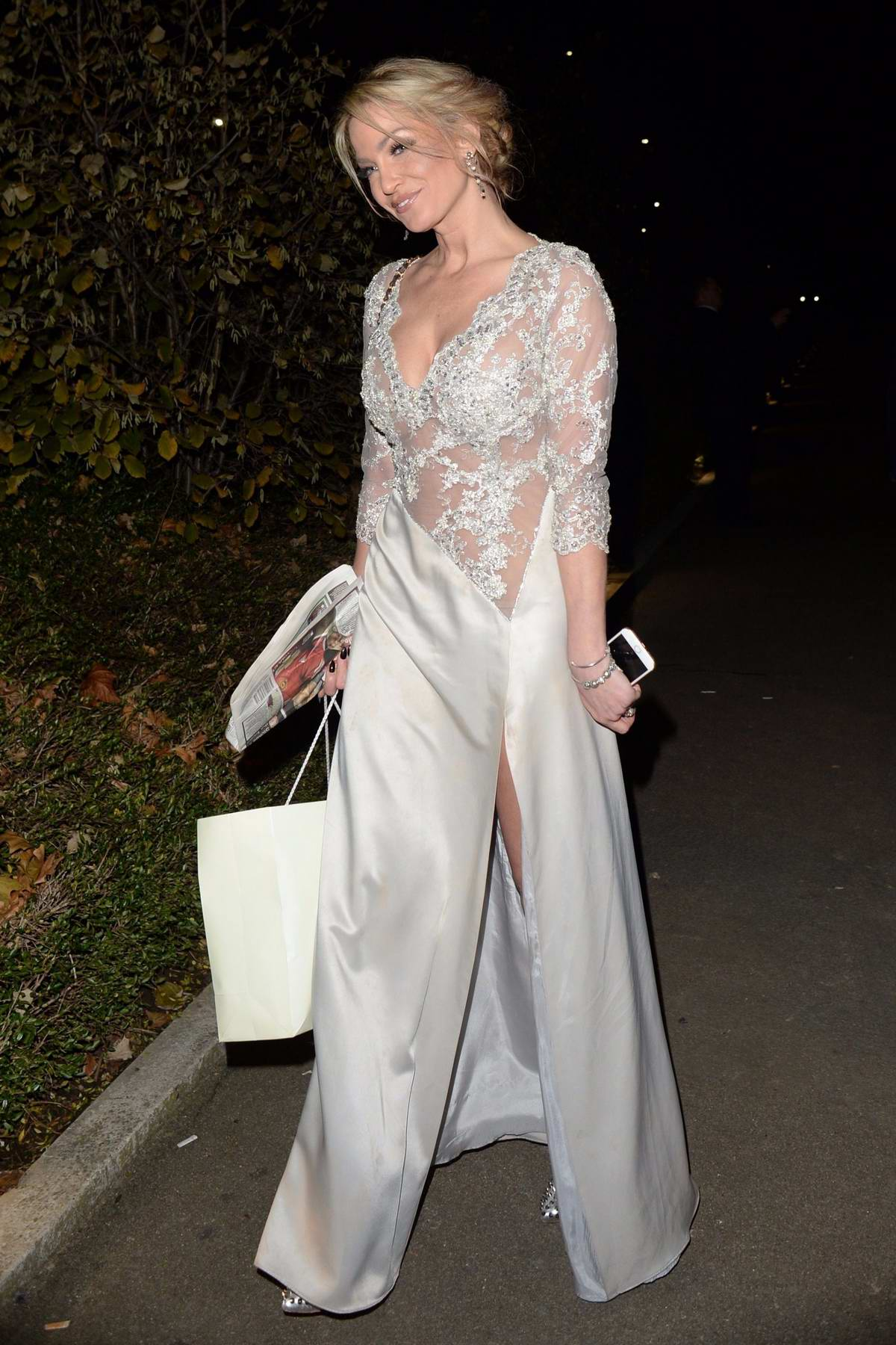 Sarah Harding arriving at the OK Magazine Beauty Awards in London