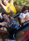 Sarah Hyland celebrates her birthday with her boyfriend Wells Adams at Disneyland, California