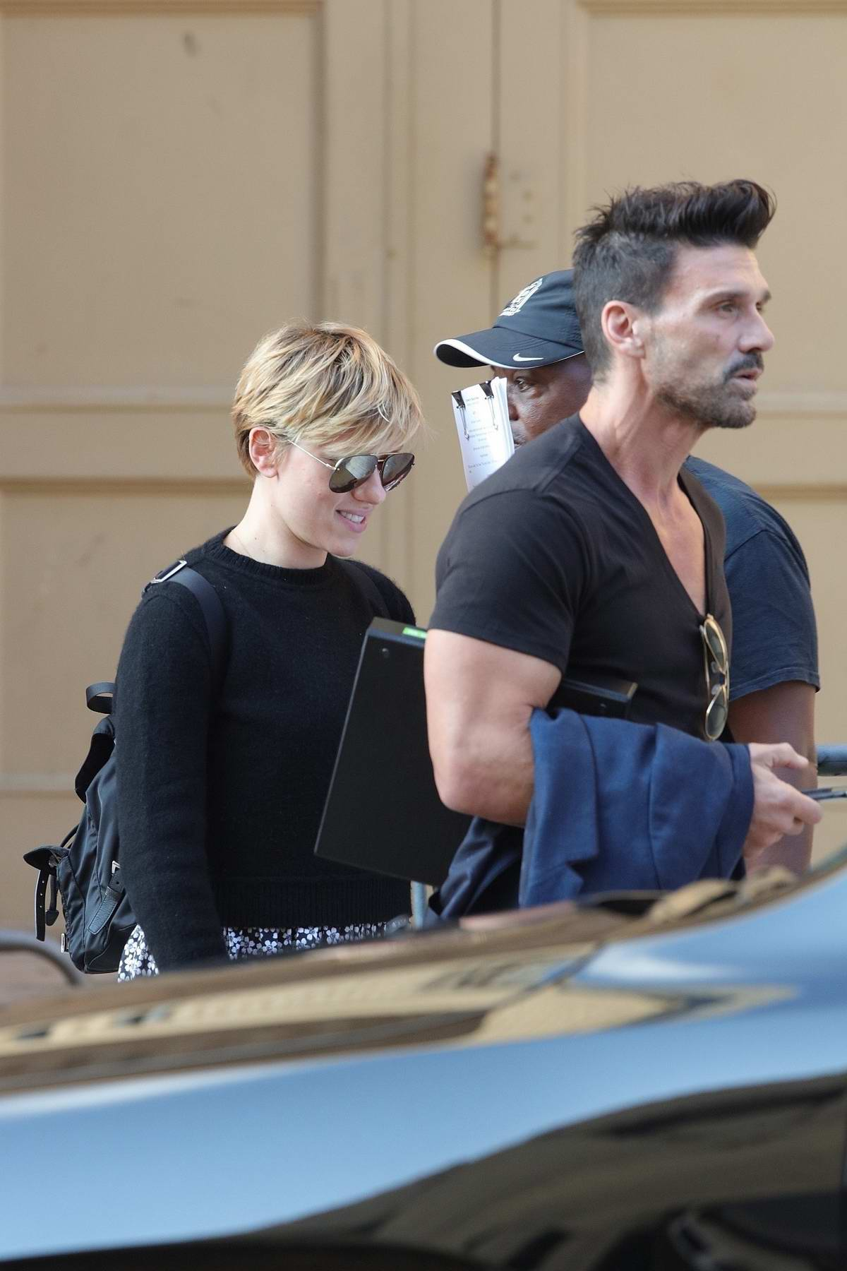 Scarlett Johansson and Frank Grillo wrap up a rehearsal for their upcoming movie 'Our Town' in Atlanta, Georgia