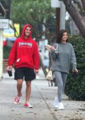 Selena Gomez and Justin Bieber hanging out together in Los Angeles