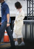 Selena Gomez arriving at Microsoft Theater for her American Music Awards rehearsal in Los Angeles