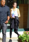 Selena Gomez leaves the gym before she heads out with friend in Los Angeles