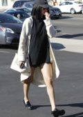 Selena Gomez seen leaving a sushi restaurant with friends in Los Angeles