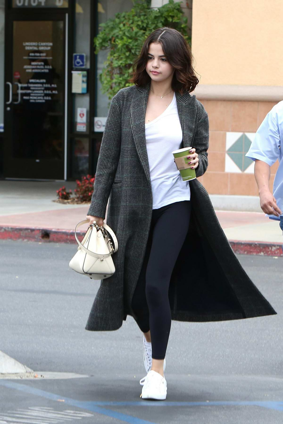 Selena Gomez stop by Panera Bread before heading into the Four Seasons in Westlake Village, California