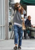 Selma Blair grab a coffee at Starbucks while out in Los Angeles