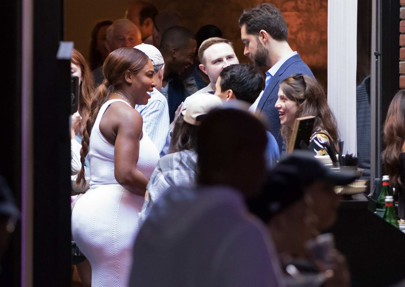 Serena Williams and Alexis Ohanian after their wedding in New Orleans