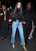 Sofia Carson spotted while leaving MTV's TRL in New York