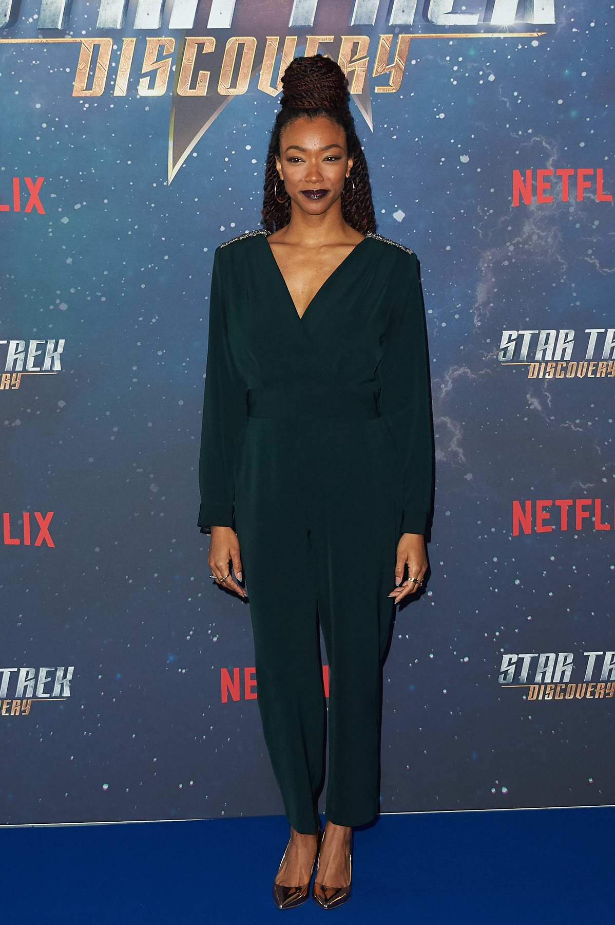 Sonequa Martin-Green attends a fan screening of Star Trek at the Millbank Tower in London