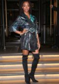 Sonequa Martin-Green outside her hotel after appearing on 'The One Show' in London
