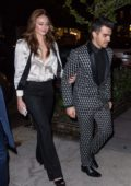 Sophie Turner and Joe Jonas leaving their engagement dinner in New York