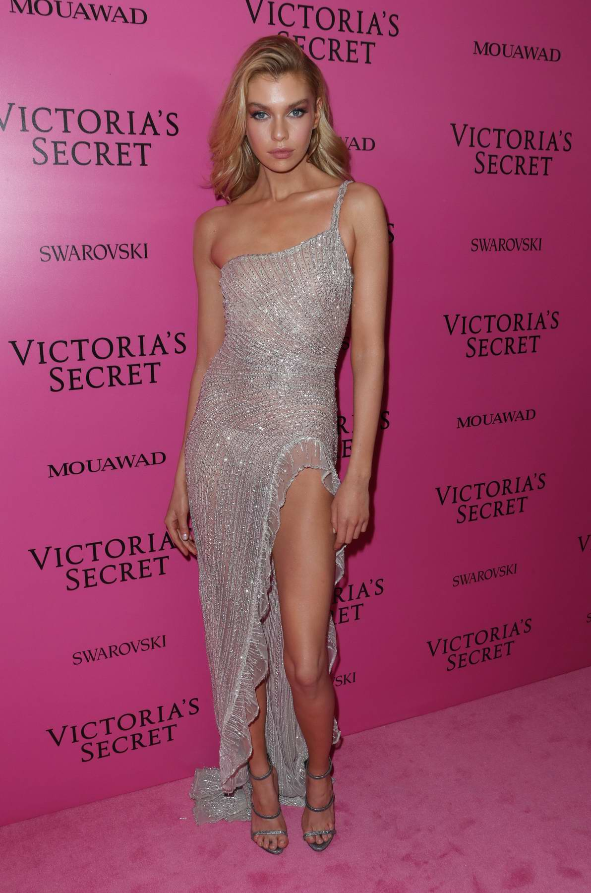 Stella Maxwell at the Victoria's Secret fashion show, pink carpet and after party at Expo Center in Shanghai, China