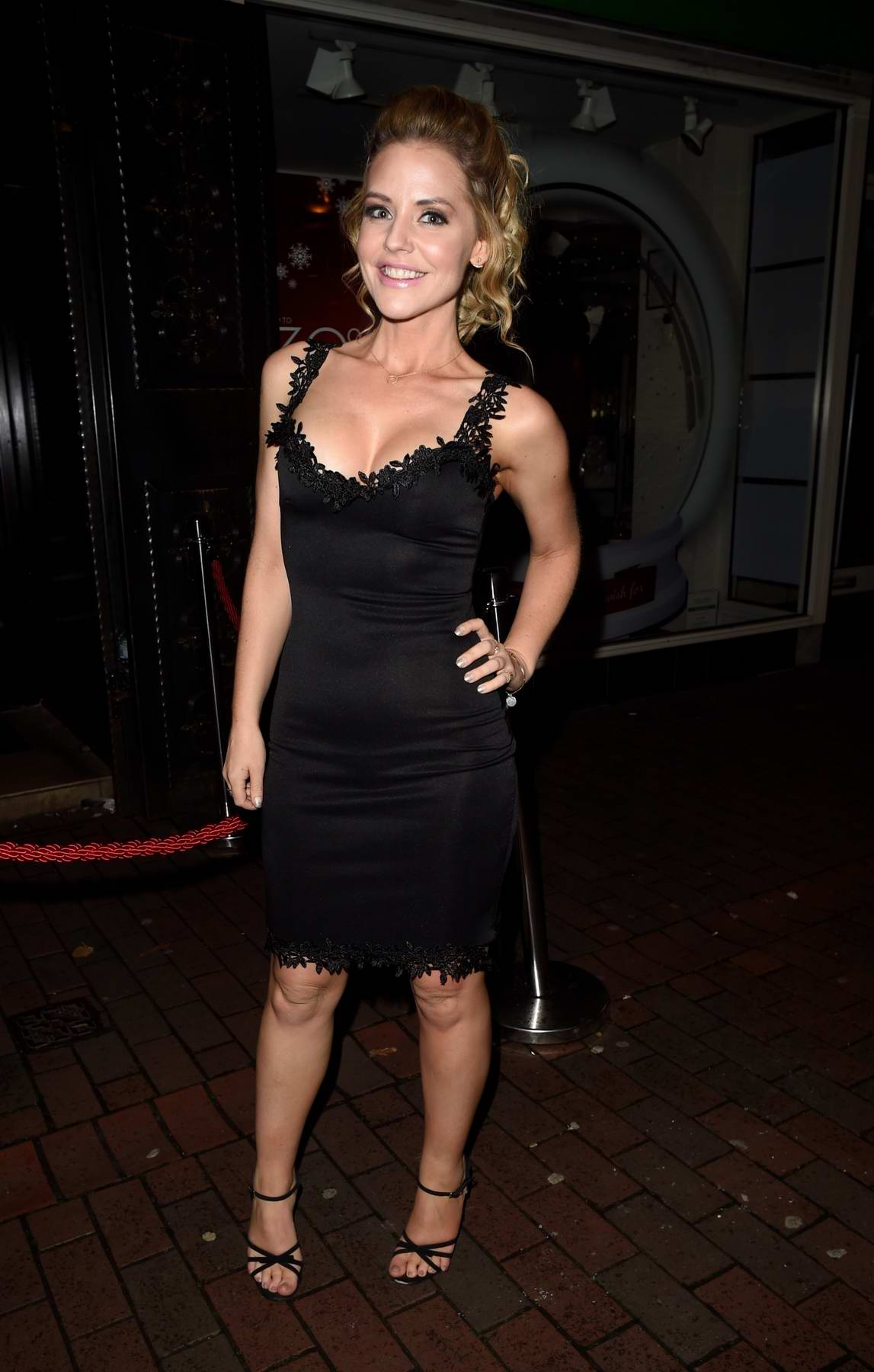 Stephanie Waring on a night out at Symposium in Wilmslow in Cheshire, UK