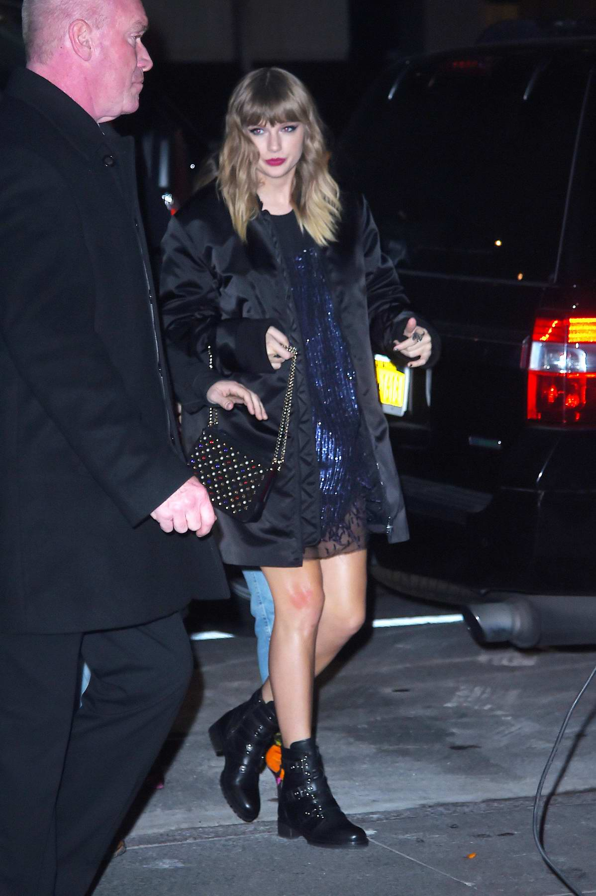 Taylor Swift arrives at the SNL after-party in Manhattan, New York City