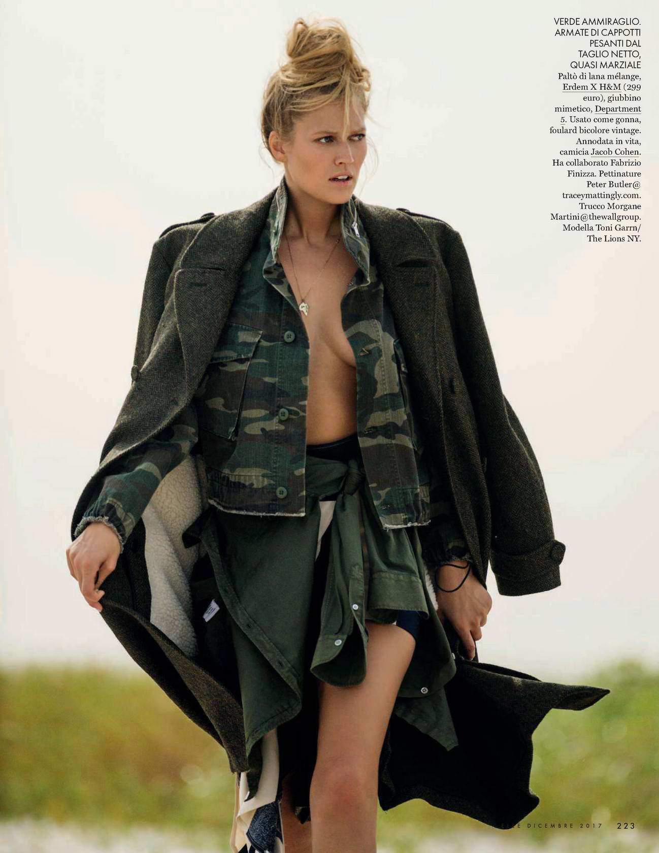 Toni Garrn in ELLE Magazine, Italy - December 2017