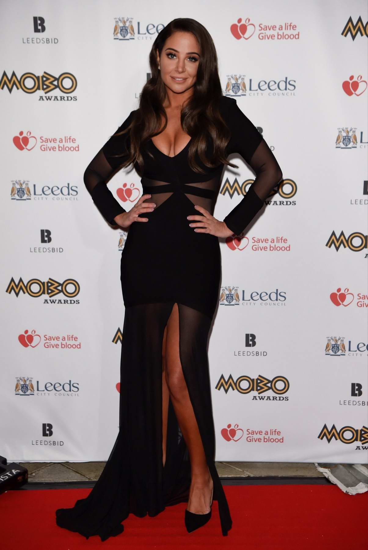 Tulisa Contostavlos at the Mobo Awards at the First Direct Arena in Leeds, UK