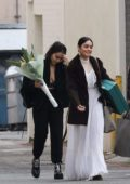 Vanessa Hudgens and sister Stella go shopping at All Saints in Beverly Hills, Los Angeles