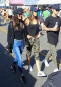 Victoria Justice, Madison Reed and Pierson Fode shopping at Farmers Market in Studio City, Los Angeles