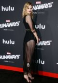 Virginia Gardner at the premiere of 'Runaways' in Los Angeles