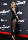 Virginia Gardner at the premiere of 'Runaways' in Los Angeles