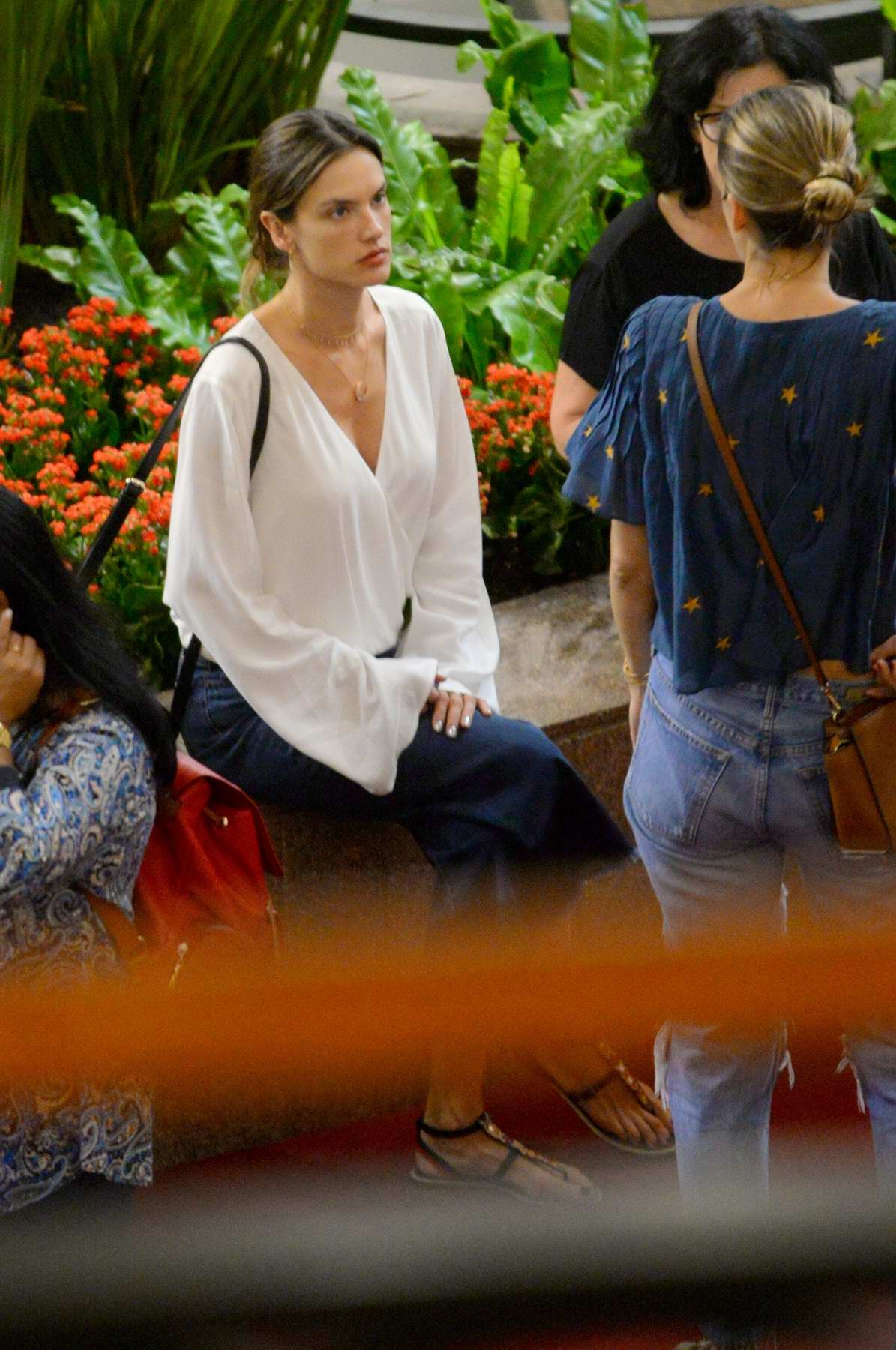 Alessandra Ambrosio goes shopping with family on holiday in Florianopolis, Brazil