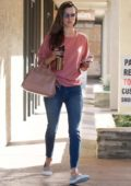 Alessandra Ambrosio makes a trip to a skin care center in Brentwood, Los Angeles