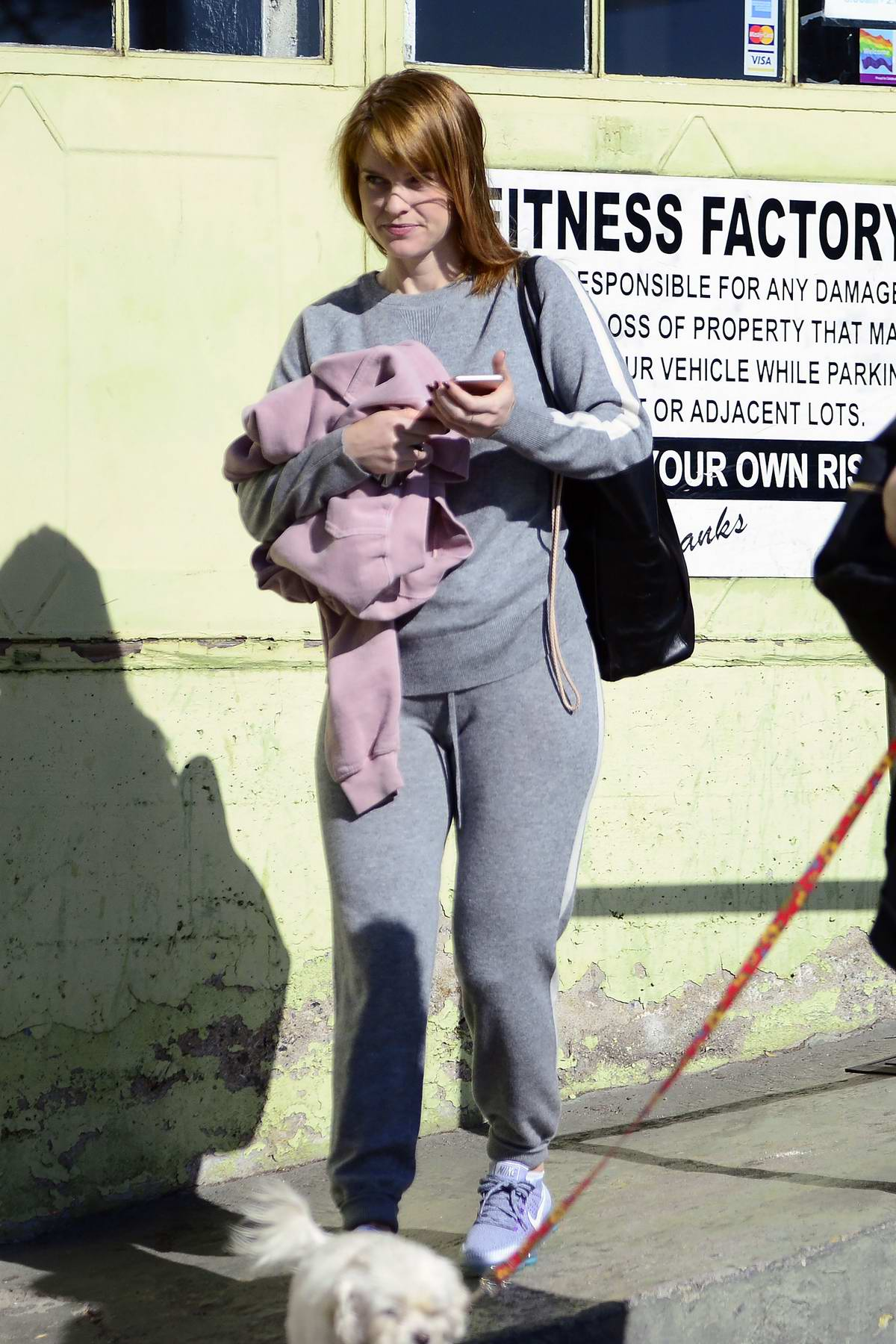 Alice Eve shows off her new blonde haircut as she leaves the gym in Los Angeles