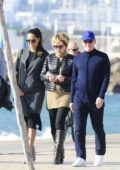 Ana Ivanovic and Bastian Schweinsteiger are seen out and about with family and friends in Marbella, Spain