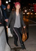 Anna Kendrick leaves NBC studios the 'Tonight' show in New York City